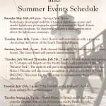 Summer Event Schedule