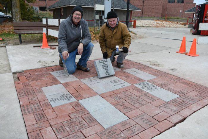 Commemorative Bricks Installed