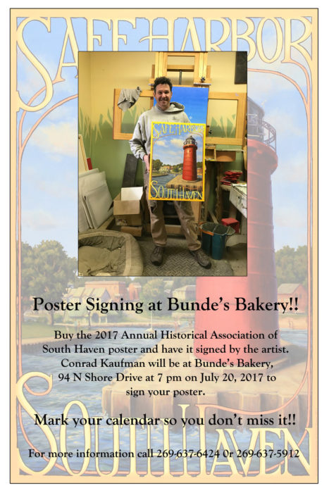 Poster Signing and Micro-exhibition at Bunde's Bakery – Thursday, July 20, 7:00 p.m.