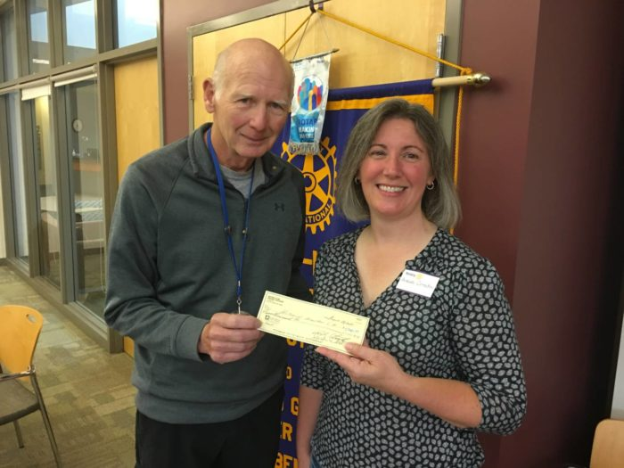 $5,000 contribution from Rotary to the Historical Association of South Haven